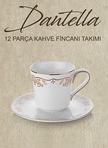 Schafer 12 Parça Dantella Kahve Fincan Takımı - Gld02 Altın